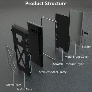 Image 2 - Étui pour Samsung Galaxy Note 9 10 en acier inoxydable Armor King coque antichoc pour Samsung Note9 S10 5G en métal de luxe