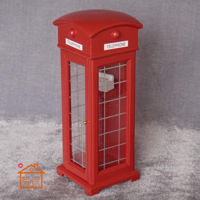 Diy Dollhouse Miniature Rouge Cabine Tlphonique Anglais Style Bois