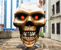 Free shipping 4.5m high inflatable skull for halloween decoration