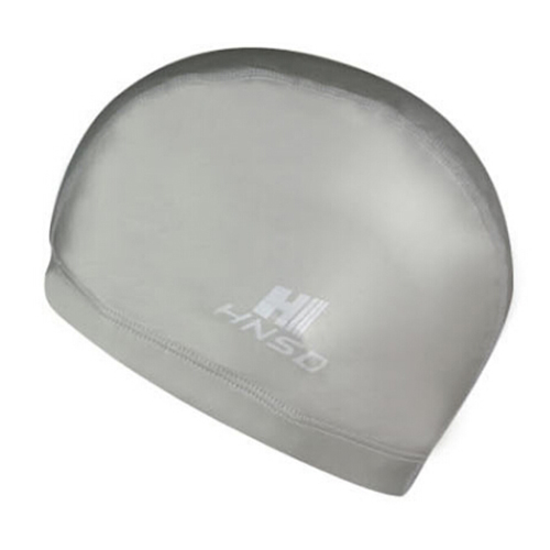 HNSD PU Cover Protect Ear Long Hair Waterdrop Swimming Caps gray
