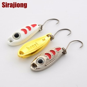 Image 3 - 6Pcs Mini Metal Lure 1.5g 3g 5g Hard Bait Red Point Luminous 6 Colors Fly Fishing Tackle Wobblers isca artificial Spoon Fishing