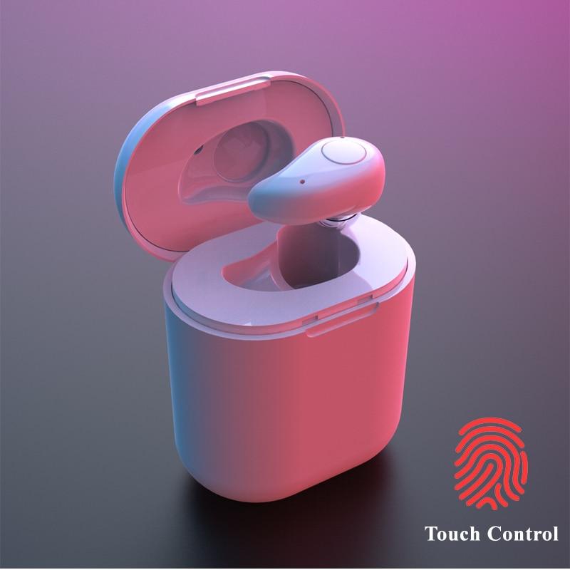 MINI Wireless Earbud Bluetooth Headphone Noise Reduction Touch Control Earphone Sweatproof