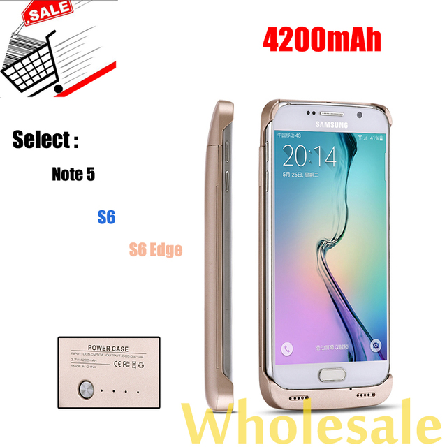 premium selection 3d9ea bfcd6 US $17.5  For Samsung S6 edge+ plus Power Case 4200mAh External Battery  Charger Battery Case Galaxy S6 Edge Plus /Note5 432 Backup Charger-in  Battery ...