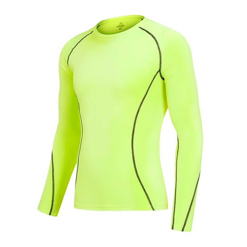 Мужская теплая рубашка фитнес Быстросохнущий тонкий свитер футболка компрессионное детское термобелье базовый слой