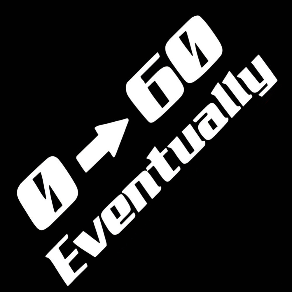 0-60EVENTUALLY Стайлинга Автомобилей Наклейки Авто Винил Черная Кошка Мотоцикл Водонепроницаемый Светоотражающие Автомобиля крышки Стикер