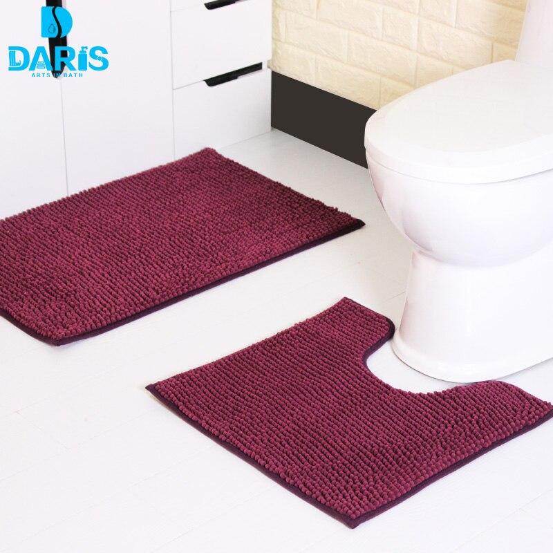 Home Decorat: Coral Fleece Anti Slip Carpet Vinyl Bathroom Mat Safety
