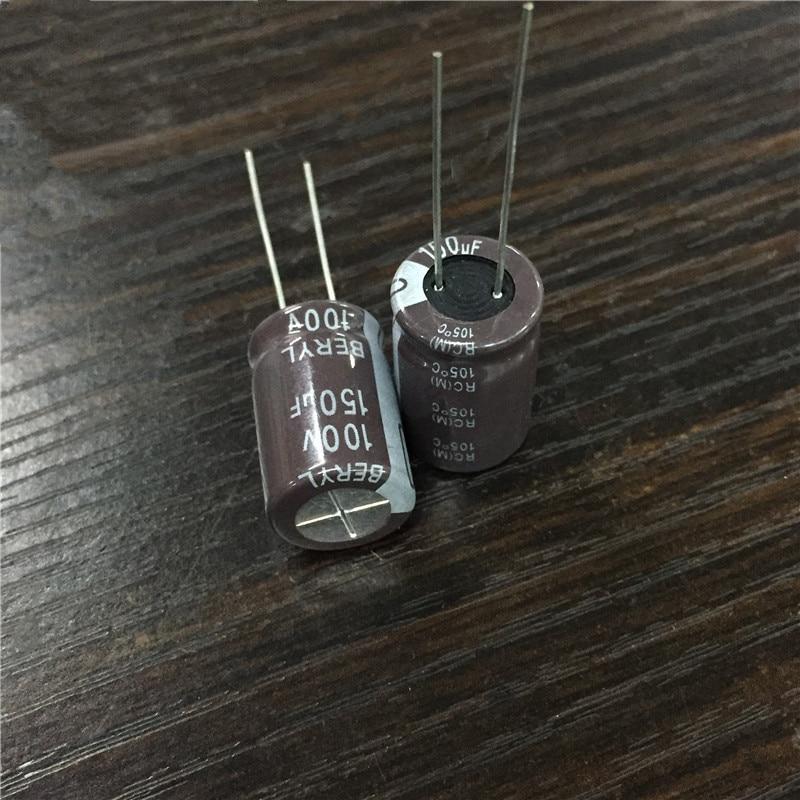 10pcs 150uF 100V BERYL RC 12.5x20mm 100V150uF Good Quality Capacitor