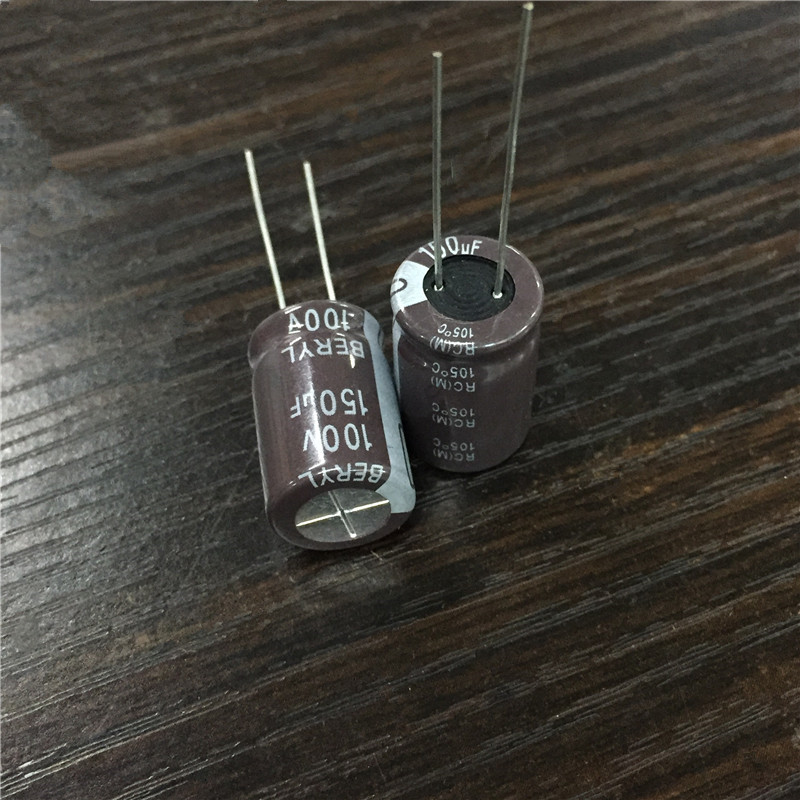10pcs <font><b>150uF</b></font> <font><b>100V</b></font> BERYL RC 12.5x20mm 100V150uF Good Quality Capacitor image