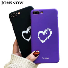 JONSNOW Candy Color Phone Case For iPhone 6 6S 7 8 Plus Couples Love Heart Pattern PC Hard Case for iPhone X Back Cover Capa стоимость