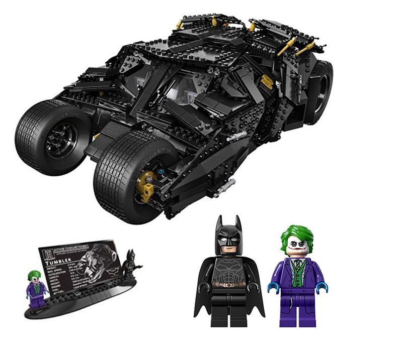 цены Super Heroes Batman The Dark Knight Cars Batmobile Model Building Blocks Compatible with Lepin Toys Bricks Gift For Children