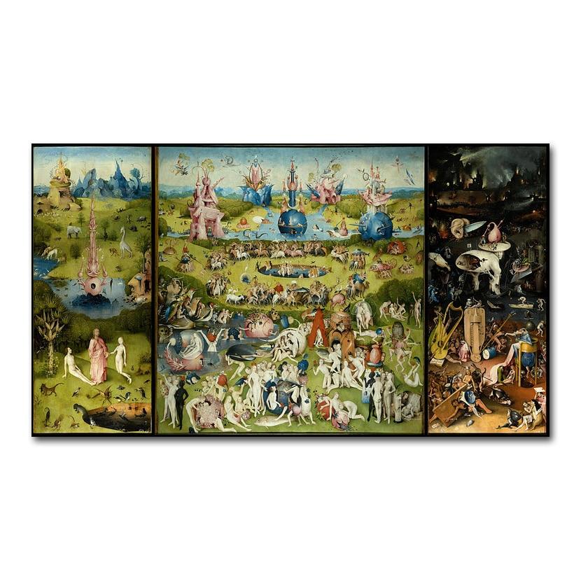 Сад земних радощів HIERONYMUS BOSCH Art Silk Poster - Домашній декор