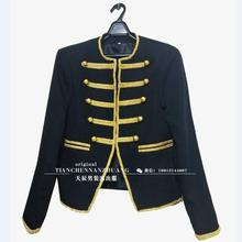 2016 Новая Мода Пиджаки мужская Slim Fit Одежда Сцены Золотой Черный Смокинг Жениха Свадебный Певец(China (Mainland))