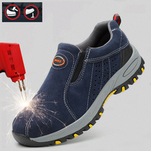 Security & Protection Workplace Safety Suppies Mens Safety Shoe Steel Toe Cap Males Working Shoes Casual Sneakers 39
