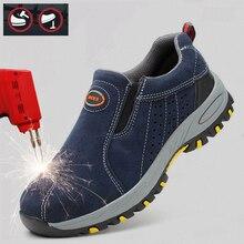 Segurança e proteção no local de trabalho segurança suppies homens sapato de segurança aço toe boné masculino sapatos de trabalho tênis casuais 39