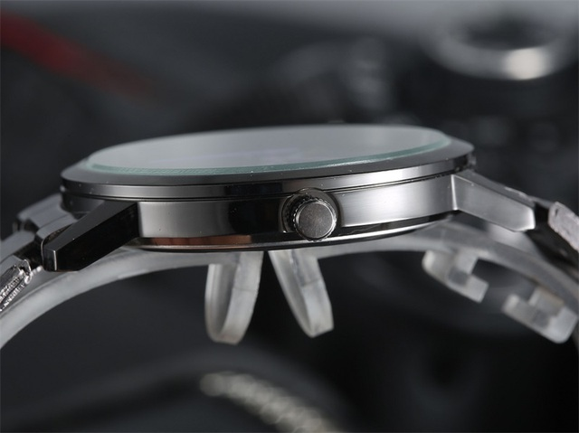 Zegarek unisex GIMTO czarna konstrukcja kolorowe wskazówki