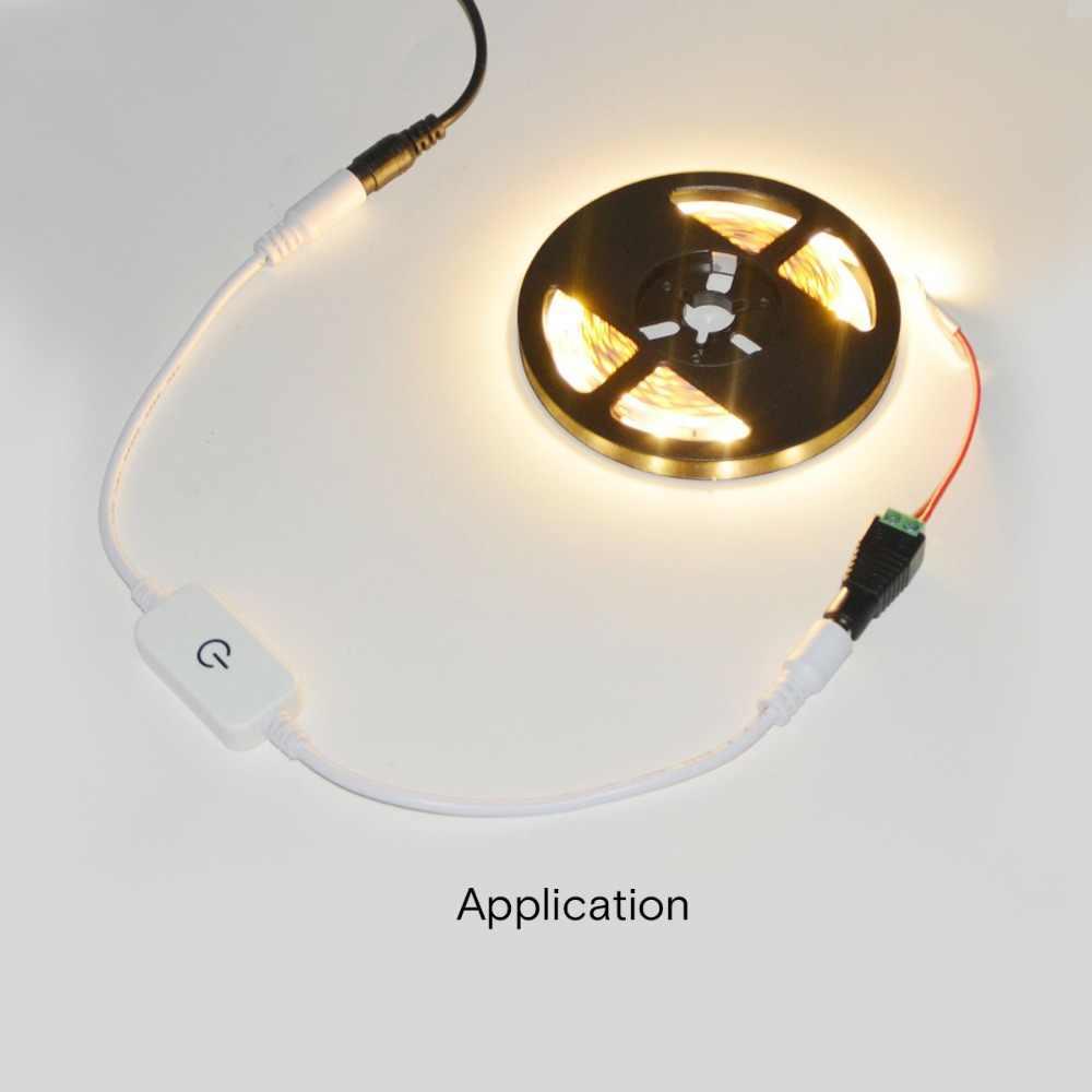 Сенсорный экран Сенсор света регулятор яркости Плавная регулировкая яркости света переключатель ON/OFF DC 12 V-24 V led контроллер для Светодиодные ленты