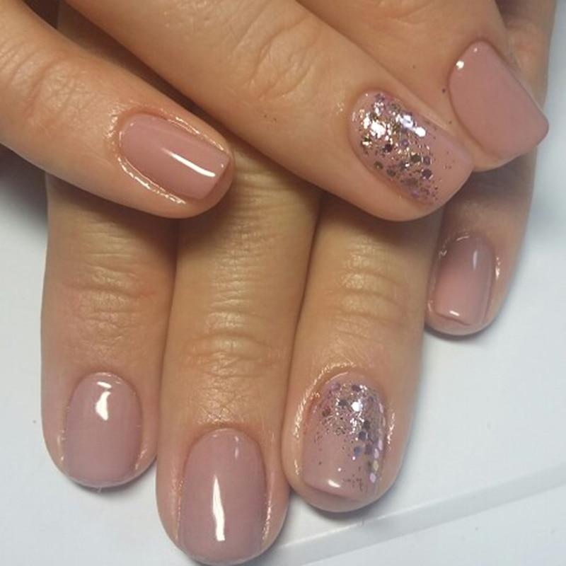 1 kuti Pink Glitter Ngjyrosje Pluhuri Pluhuri Pluhuri i Thonjve - Art thonjsh - Foto 4