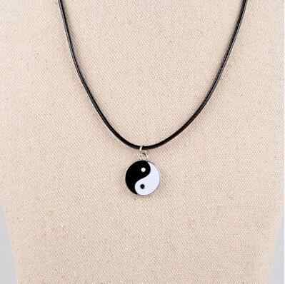 2019 new Hot Man Tai Chi Chain leather Necklace for men women Male Pendant Jewelry Gifts Wholesale