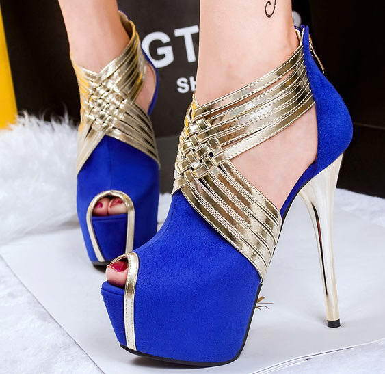 Black Ankle Strap Sandal Heels Shoes Comfortable Blue Chunky Heel Wedding  Bride Shoes Light Up For Women Peep Toe Platform Pumps