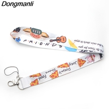 DMLSKY Friends Tv Show Keychain Phone Lanyard Cartoon Punk Neck Strap for Keys ID Card Mobile Lanyards M2717