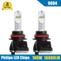 2x100 W 16000LM 9004 HB1 LED Kit de Conversión de Faros de Alta/Baja Haz Bombillas 5700-6000 K coche Camión de Reemplazo Faro Super Brillantes