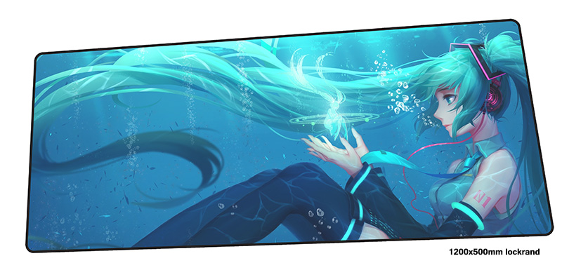 Hatsune Miku mouse pad gamer Gorgeous 120x50cm notbook mouse mat gaming mousepad large Cartoon pad mouse PC desk padmouse