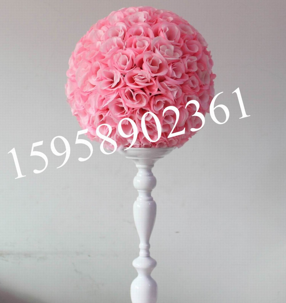 30cm pink Free shipping artificial flowers ball rose kissing ball ...