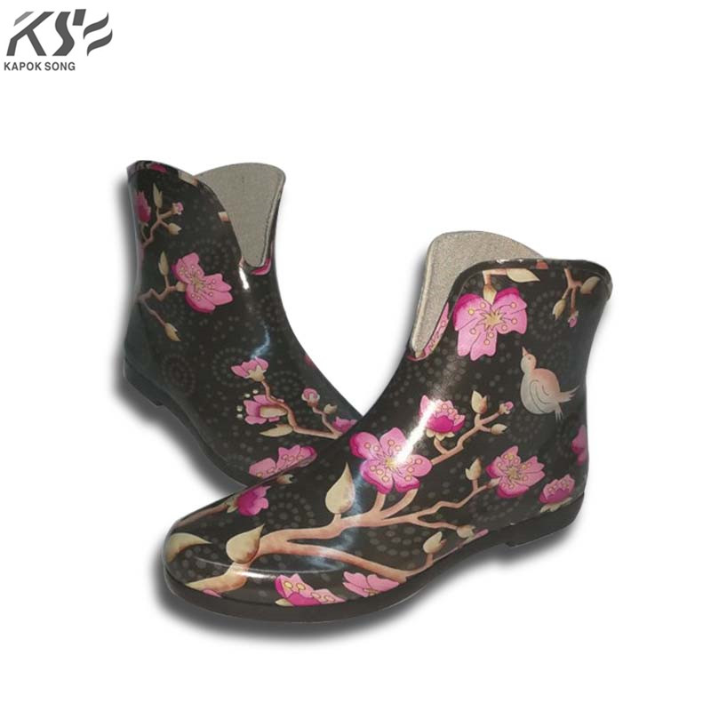 women rain boots waterproof ankle U lady rainboot luxury designers women rainwear rubber ...