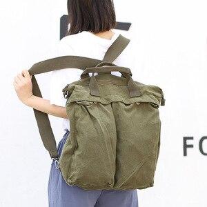 Image 2 - High Quality Mens Backpack Vintage Canvas Shoulder Bag School Bag Men Women Travel Bags Large Capacity Laptop Backpack Bag