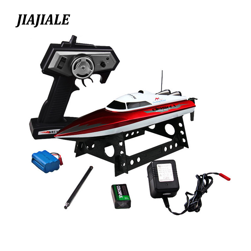 Free shipping 2.4G DH7009 Remote Control speed boat with servo RC speed boat electric toy Gift for children boy girl toys
