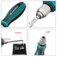 8 Insert Bits 1pcs Rubber Handle Home Hardware Screw Driver Screwdrivers Kit With Cross Head And