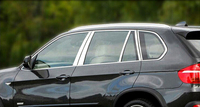 Для BMW X5 E70 2008 2013 Нержавеющаясталь полный подоконник планки украшения Обшивка 20 штук автомобиля Средства для укладки волос