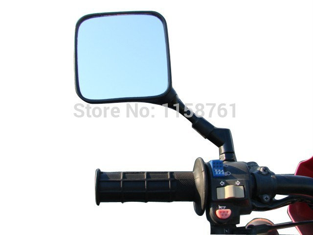 FREE SHIPPING Dual Sport Motorcycle Mirrors for Suzuki <font><b>DR</b></font> <font><b>200</b></font> 250 DR350 350 DRZ 400 650 DR650 image