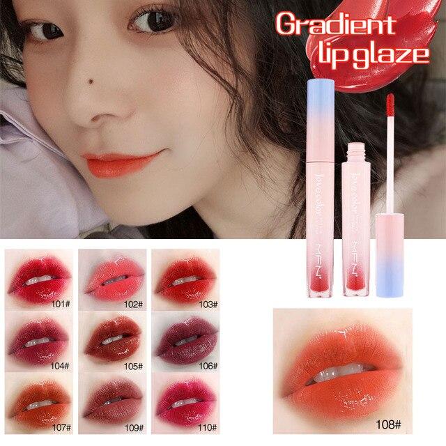 Lip Tint Makeup Matte Liquid Lipstick Mirror Lip Gloss Glitter Waterproof Lip Stick Long Lasting Sexy Red Lip Tint Korean Cosmet