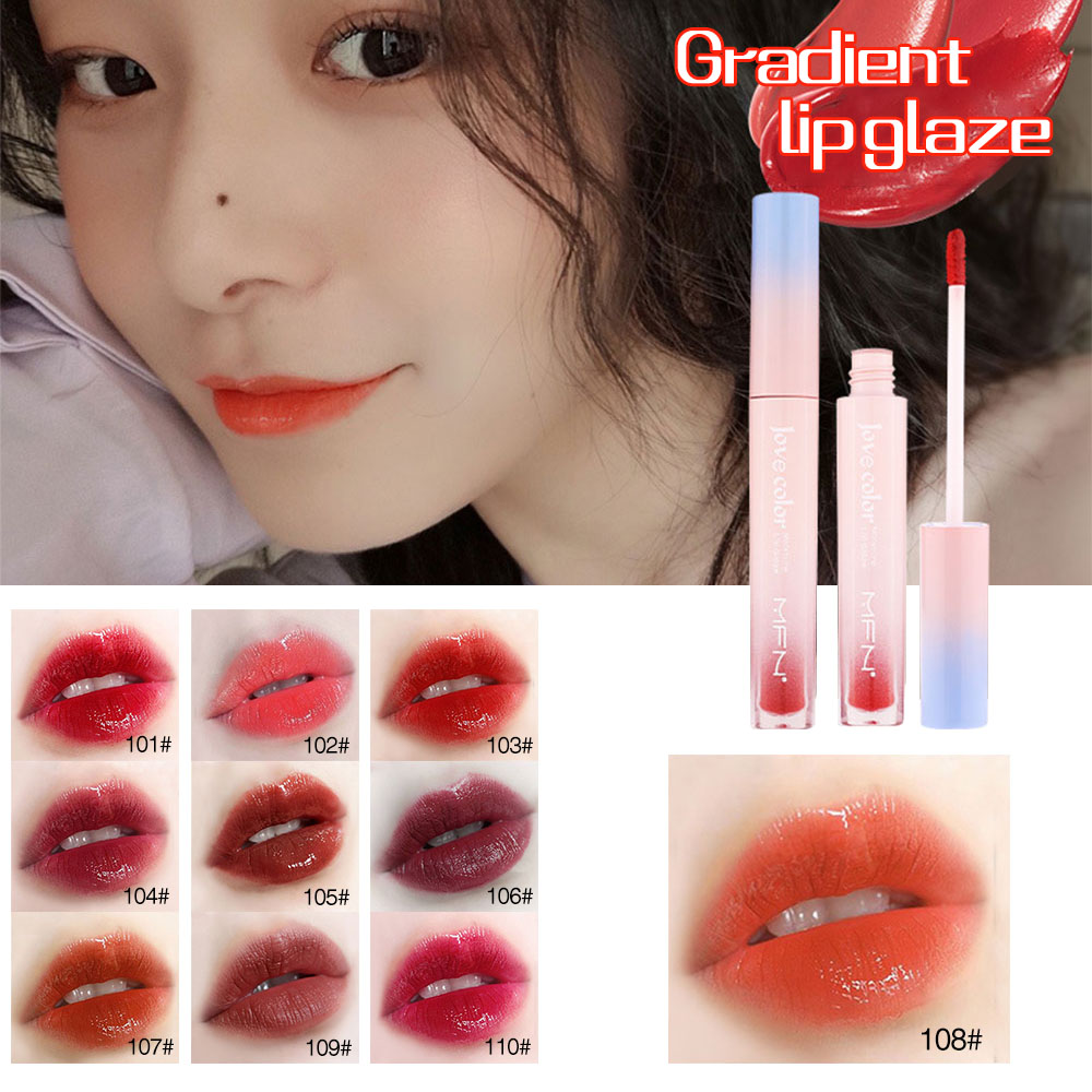 Lip Tint Makeup Matte Liquid Lipstick Mirror Lip Gloss Glitter Waterproof Lip Stick Long Lasting Sexy Red Lip Tint Korean Cosmet image