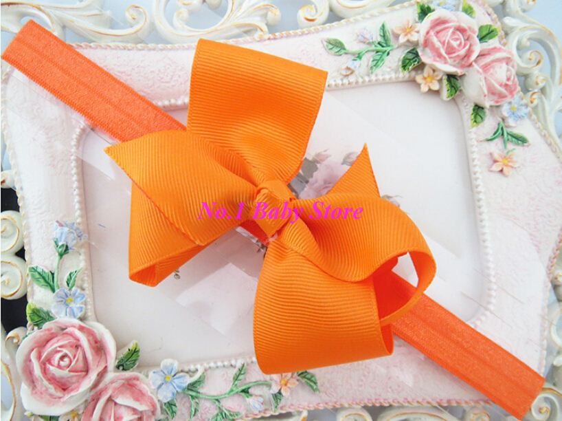 Free shipping 100 pcs/lot Baby Girls Headbands, good quality bow with elatic bands, Girls hair accessory hairbands