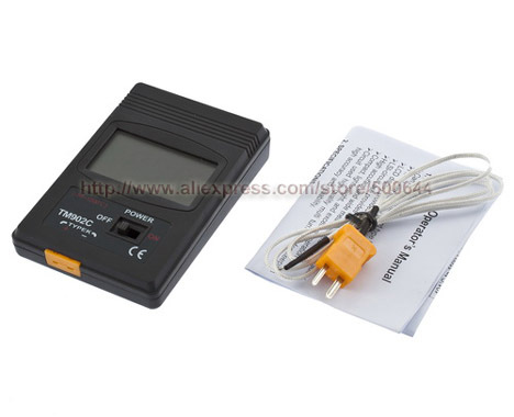 TM902C Digital LCD K Type Thermometer Single Input with Thermocouple Probe Retail Package & 20PCS/Lot DHL/UPS/EMS Free Shipping