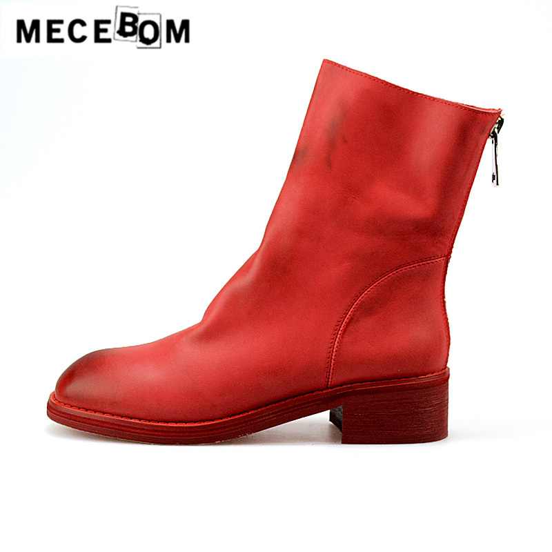 Women luxury boots full genuine leather shoes quality handmade fashion leisure women ankle boots size 34-39 d96