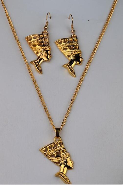 1 Set Lot Hot Fashion Egyptian Egypt Queen Nefertiti 24k