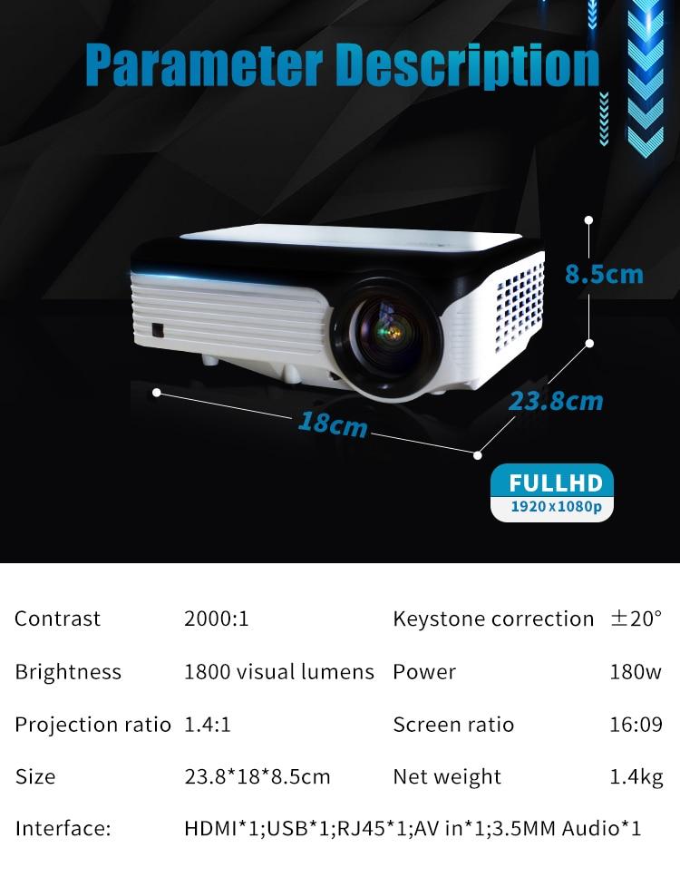 rabais Proyector LCD WIFI 23