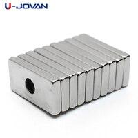 U-JOVAN 10 шт. 20x10x3 мм 4 мм Отверстие N35 Супер сильный редкоземельный кольцевой Блок Неодимовый магнит магниты на холодильник