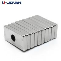 U JOVAN 10 pces 20x10x3mm 4mm buraco n35 super forte terra rara anel bloco neodímio ímã geladeira ímãs|neodymium magnet|rare earth|neodymium block magnet -