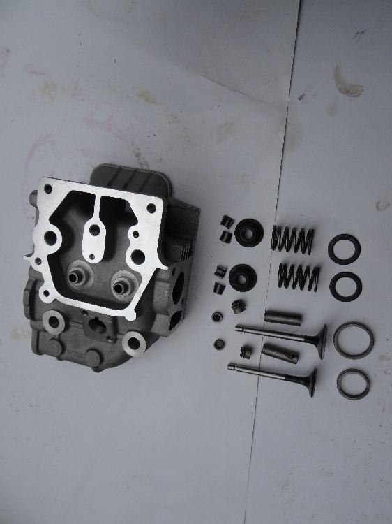 Fast shipping 178F Cylinder head assembly intake valve air cooled diesel engine suit for kipor kama Chinese brand engine parts cylinder head assembly