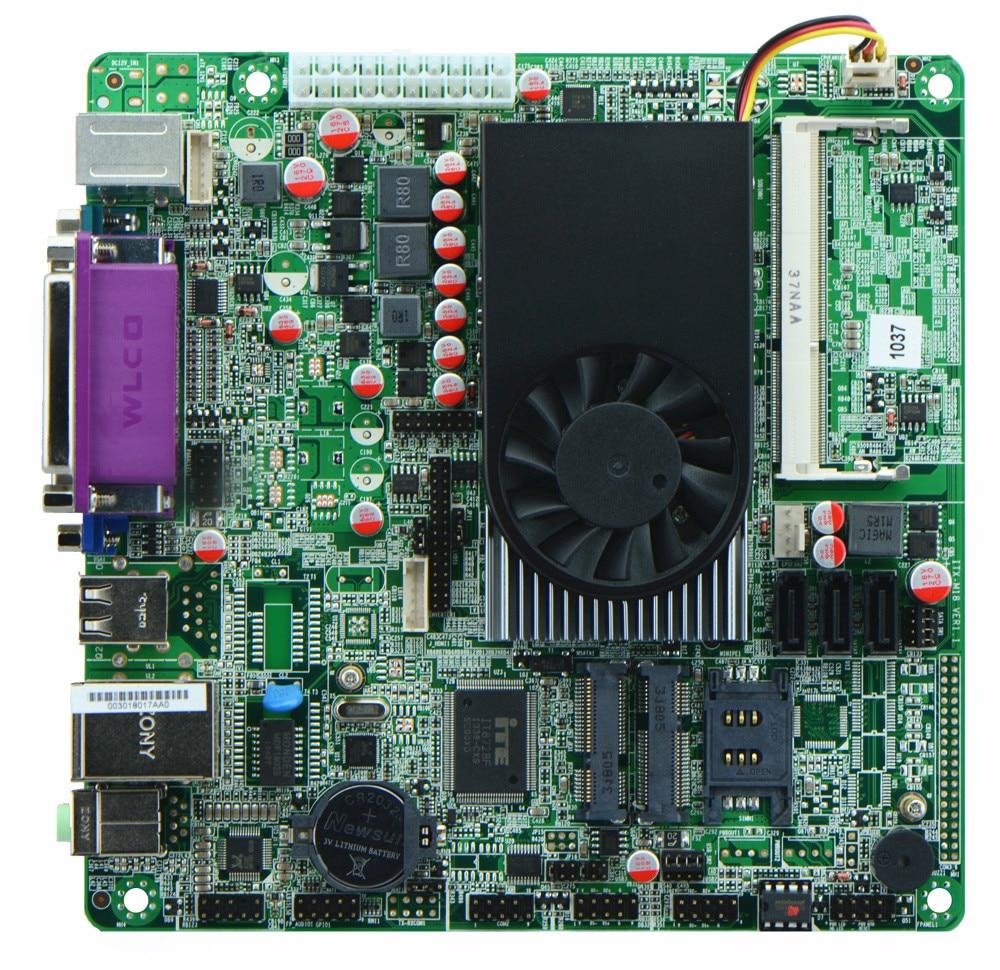 1037U /2*COM/ POS Industrial Motherboards/ ATM Motherboards/ Mini ITX Industrial Motherboards ITX-M18_A2 mini itx motherboard d2550 6 com atm industrial motherboards pos machine industrial mini itx h25 2d6