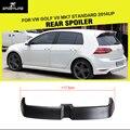 MK7 FRP Неокрашенный Черный Грунтовка Автомобиля Задние Крылья, Багажник Спойлер Для VW Golf VII MK7 Стандарт 2014UP