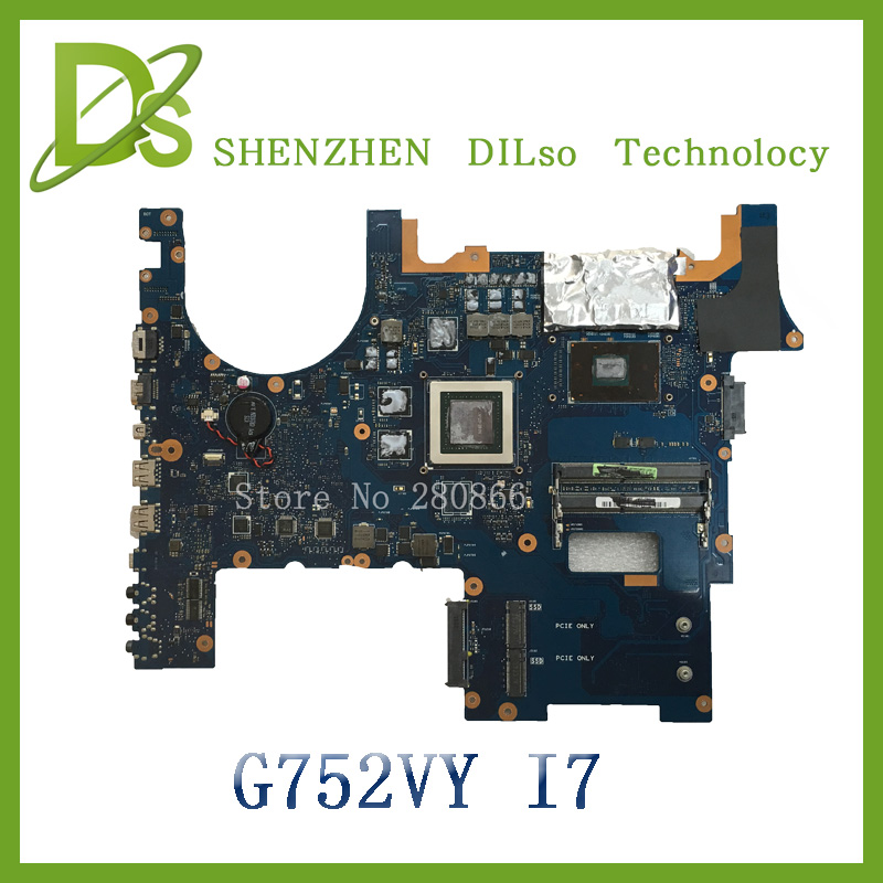 For ASUS G752VY Laptop motherboard G752VY mainboard   with graphics card i7 cpu  100% tested freeshipping laptop motherboard mainboard for lenovo s10 s10 3 for intel cpu with integrated graphics card 100% tested fully