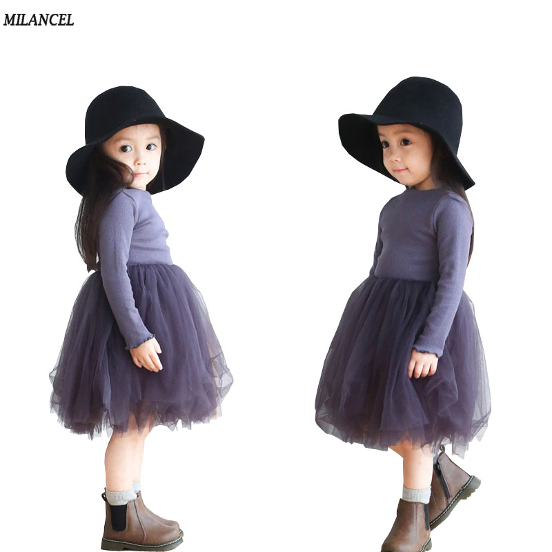 Milancel Baby Girl Dresses 2017 Summer Solid Clothes Casual Kids Clothing Girls Tulle Dress Ball Gown Children Clothing baby girl summer dress children res minnie mouse sleeveless clothes kids casual cotton casual clothing princess girls dresses