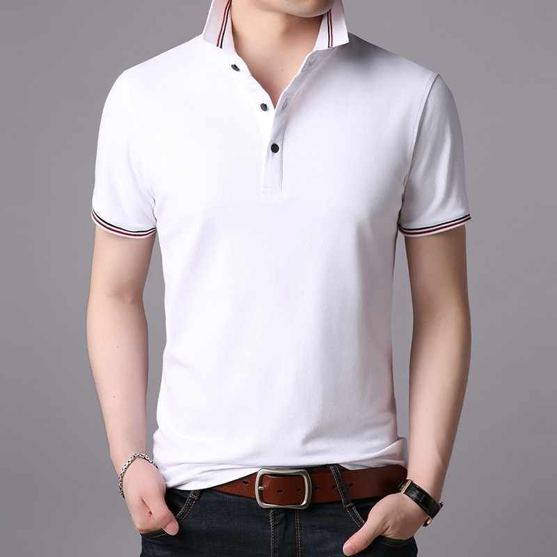 Men 2019 New Summer Luxury Fashion Polo Shirt Brand Slim Fit Polo Men Short Sleeve Solid Color Casual Polos Shirt Mens Clothing