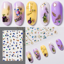 Mtssii 3D Sliders for Nails Colorful Nail Art Sticker Fashio