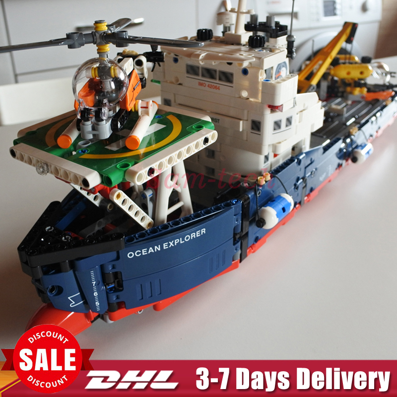 IN STOCK DHL Lepin 20034 Genuine Technic Series Remote-control The Searching Ship Set Building Blocks Bricks Toys 42064 8 in 1 military ship building blocks toys for boys